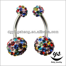 Top selling China wholesale fashion ferido ball glue belly button ring