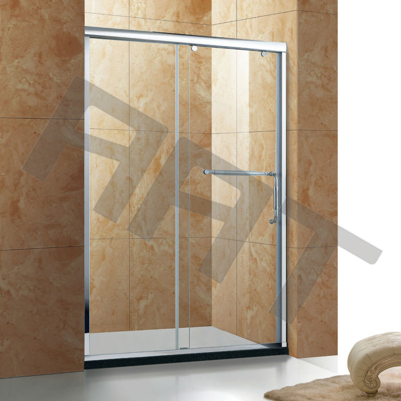 Aluminum sliding door shower enclosure 302