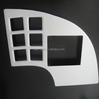 high quality yutong bus spare parts right decorative cover for bus main dashboard
