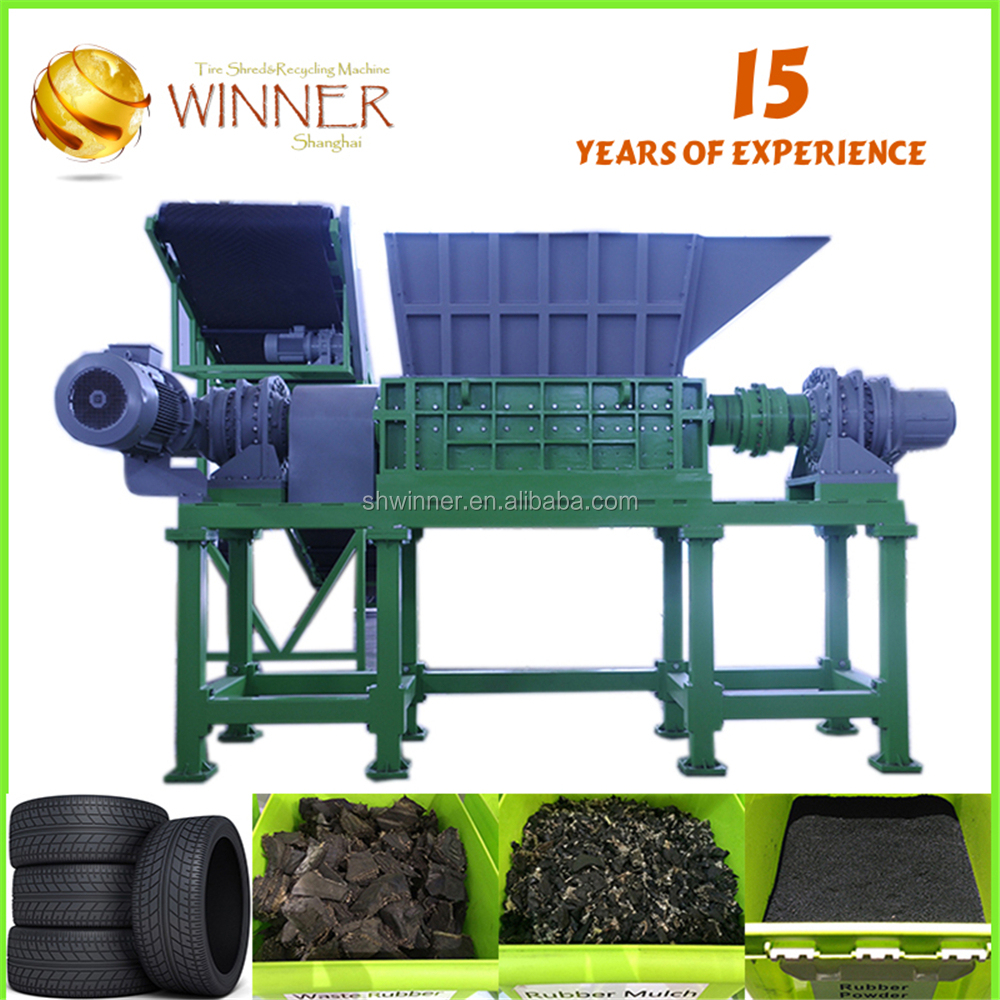 Small for factory used tire cutting and recycling machine for sale