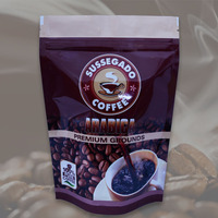 China Custom Print Flat Bottom 250g 500g 1kg Coffee Bean Packaging With One Way Degassing Valve