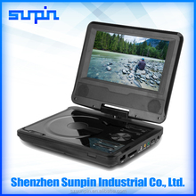 7 Inch LCD Screen Portable DVD Player, Single Screen DVD Player with FM, USB, AV Cable