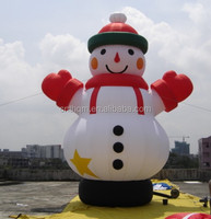 large inflatable christmas snowman