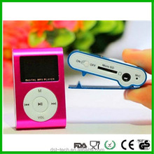 Manufacturer mini clip mp3 player manual with TF card slot and LCD screen