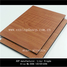 Hotsales Wood Color Walnut Aluminum Composite Panels Price in India