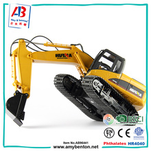 Most popular 2.4G 15 CH metal rc construction toys excavator truck