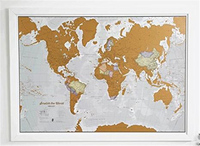 Set of World and US Travel Tracker Maps Scratch Off Places You Visit paper scratch off world map for travel
