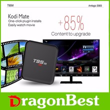 display leather full hd 1080p video watch free T95m 1g 8g quad core android KODI 16.0 tv box