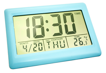 2017 new product big screen thermometer table clock