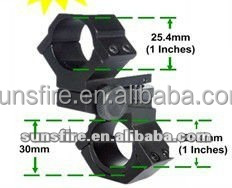 multifunctional Adjustable 30MM/25.4MM Scope Mount fit for gun rail system/flashlight/scope(Diameter 30mm and 25.4mm)