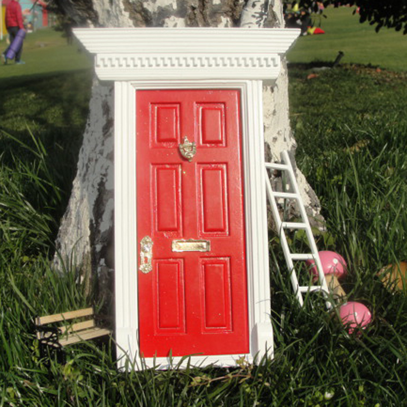 wooden doll house fairy dolls magic elf fairy door