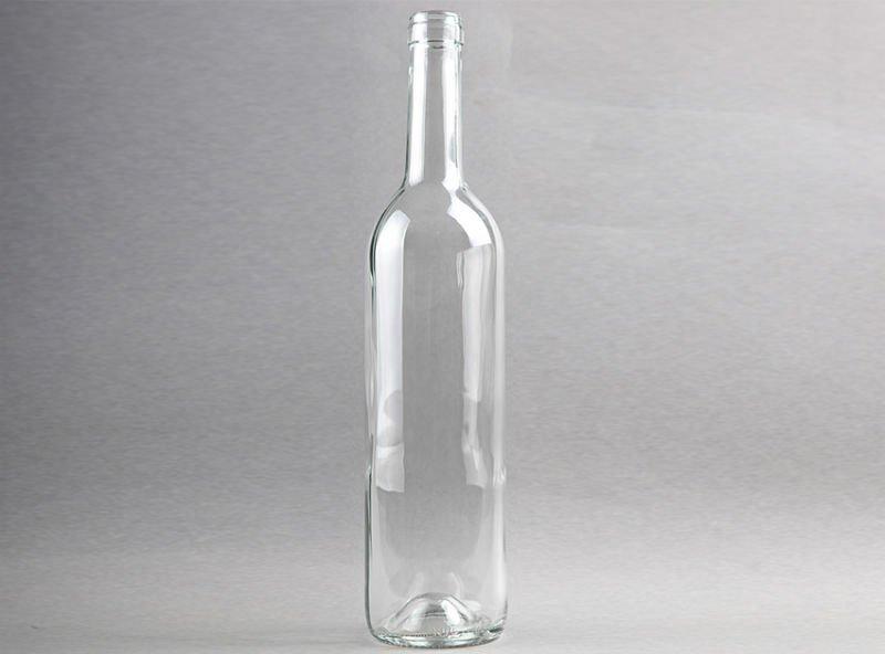 Botellas de vidrio transparente para el vino tinto botellas identificaci n del producto - Vidrio plastico transparente precio ...