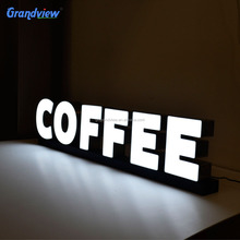 Customized channel acrylic letter 3d led display advertising sign board backlit brightest letter sign