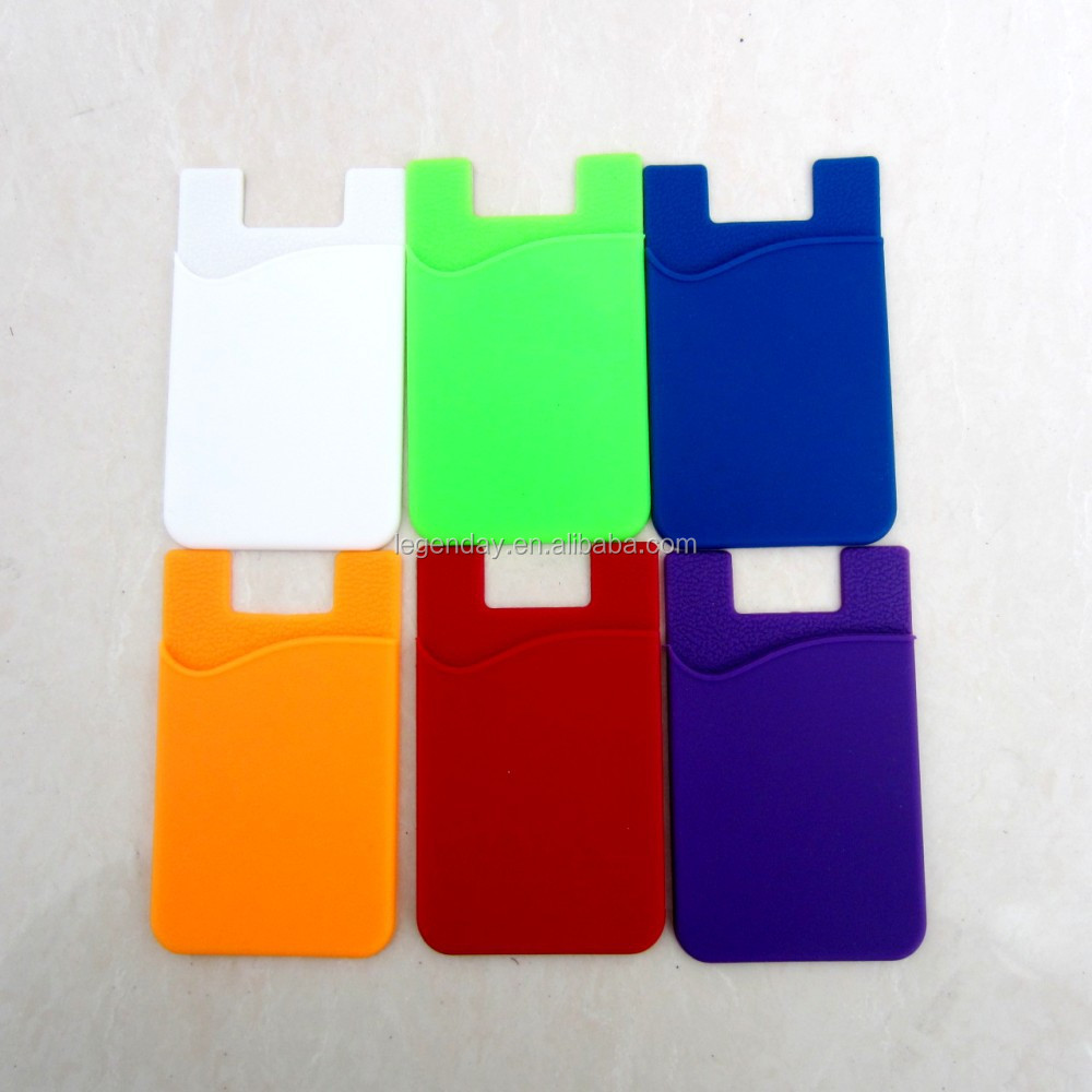 Shenzhen factory 3M sticker silicone smart phone wallet, silicone card holder