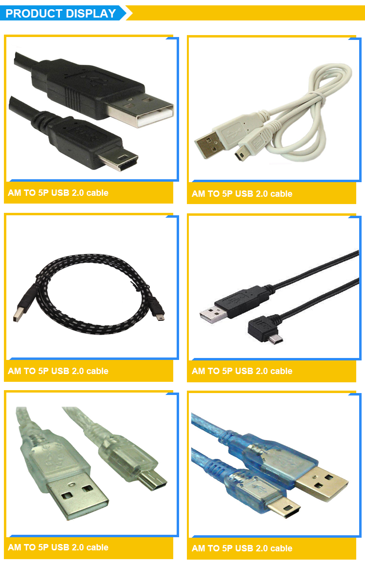 China wholesale custom length braided charging mini usb 2.0 cable