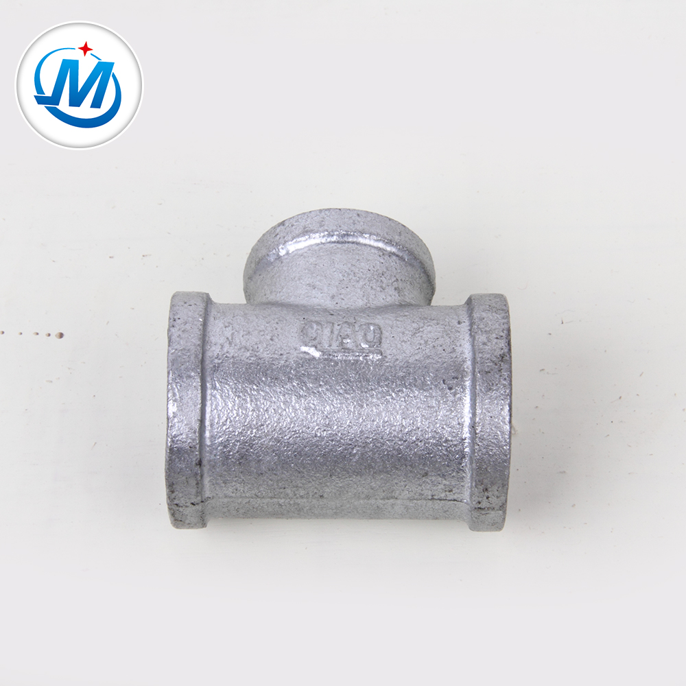 Factory supply hot dipped galvanized BS standard pipe fitting tee
