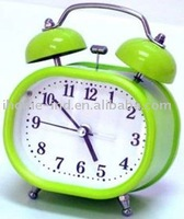 promotional double bell metal alarm clock