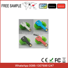 metal logo Key shape usb flash memory stick Customizable logo usb flash drive 2gb 4gb 8gb