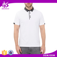 2016 Shandao Factory Direct Wholesale Casual 210g 100% Cotton Short Sleeve Man Clothing