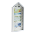 Decorative White Wood Wall Hanging House-Shaped Picture Photo Frame