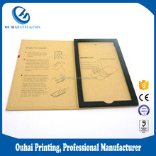 Premium Tempered Glass Screen Protector Paper Packaging , Screen Protective Film Packaging Box