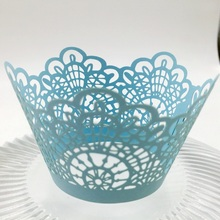 Cupcake Wrappers Artistic Bake Cake Paper Cups Laser Cut Lace Baking Cup for Wedding Birthday Party