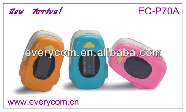 New EC-P70A cartoon shape blood oxygen meter pulse rate testing devices CE approved