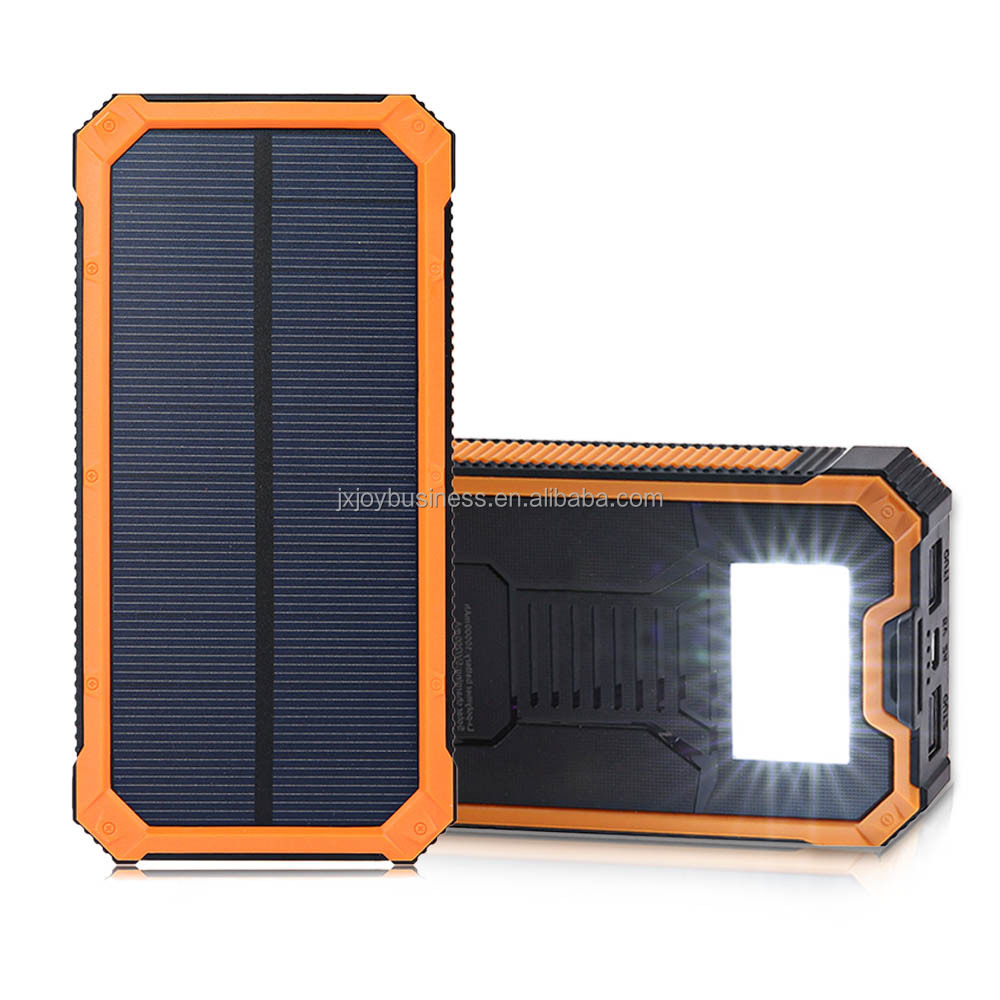 20000mah Dual USB Portable power pack bank deals mobile cell phone battery solar charger
