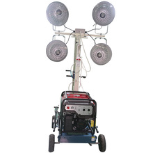 cheapest price !!! powergen mobile lighting tower 4.8m with metal halide lamp 4x400W night scan light tower generator 5KW