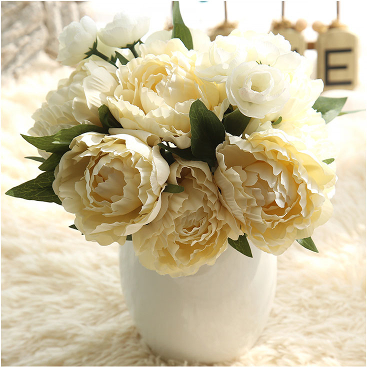 Hot Products Long Lasting Eternal Peony Pink white blue yellow Artificial Flower
