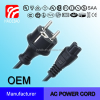 IP 44Europe Schuko Power Cord to Iec C5 Micky Mouse Clover Leaf Connector Extension Cord