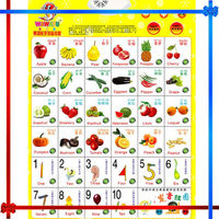 Fruit Electronic sound wall chart for children education