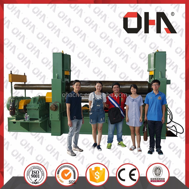<strong>W11S</strong>-30X3000 OHA <strong>W11S</strong> SERIES CNC HYDRAULIC BENDING ROLLING MACHINE WITH 3 ROLLERS FOR PLATE SHEET