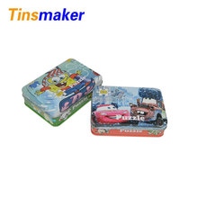 Puzzle tins ,custom printed puzzle metal box, tin box