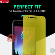 Fully Screen Cover !! Anti-Fingerprint 3D Arc Edge TPU screen protector for LG K4