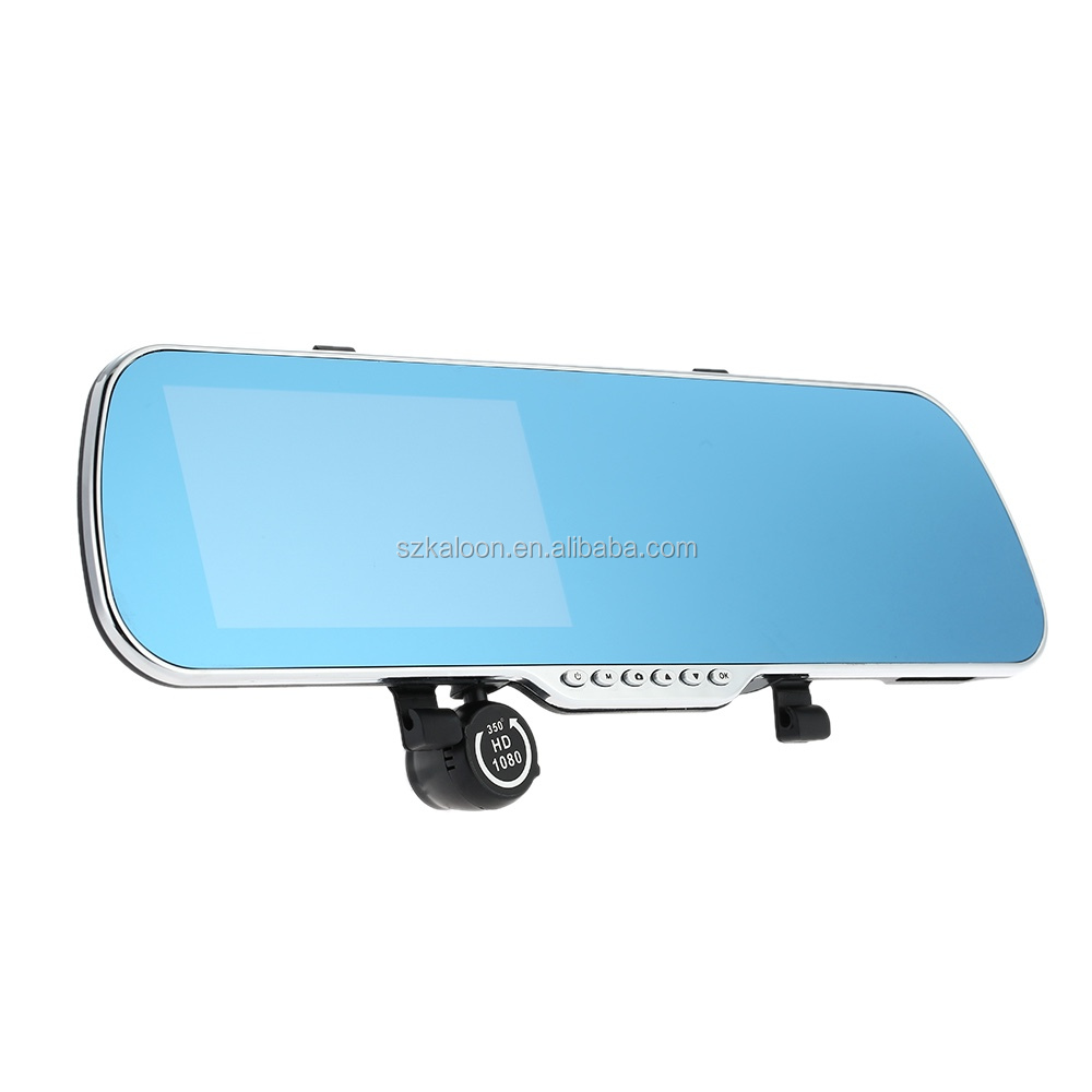 "1080P Car Camera Recorder 5"" Android GPS Navigation Rear view Mirror DVR Dual Camera Bluetooth WIFI Night Vision"