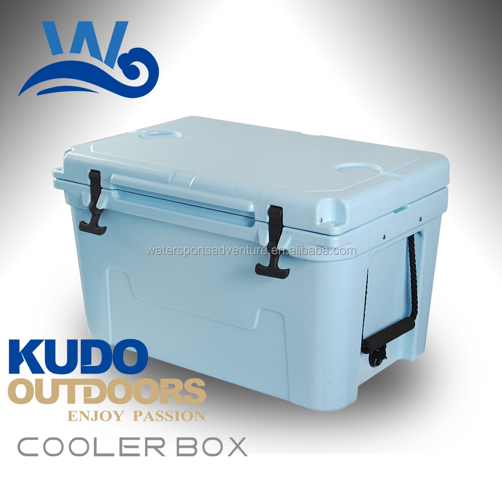 OEM 15-70L LLDPE Material rotomolded large reusable ice cooler box