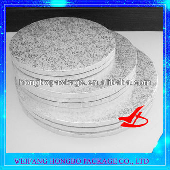 12mm thick cake drum,rose pattern silver cake board