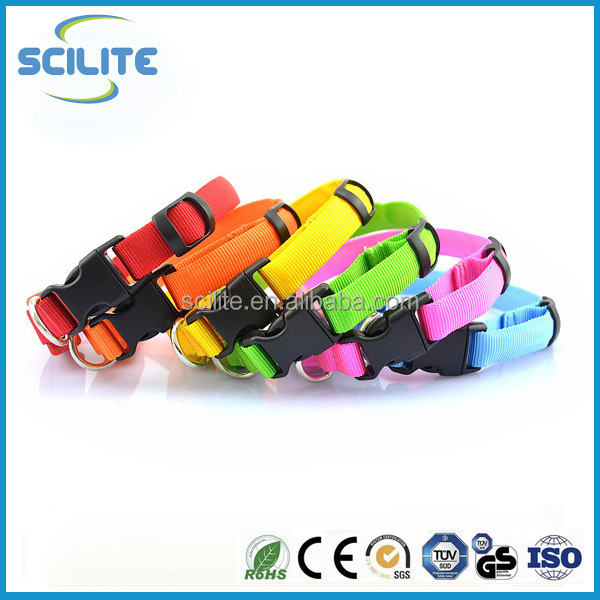 LED pet collar flash Dog Collars Dog Pet Cat Puppy Nylon Collar Neck Buckle Adjustable Buckle