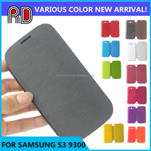 Mobile phone accessories wholesale flip leather case for samsung galaxy s3 I9300 back cover