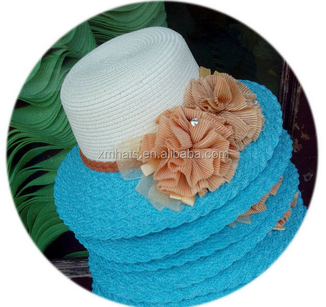 New Wholesale top quality fashion ladies straw cloche hat
