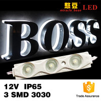 DC 12V waterproof IP68 3 chips 3030 smd injection led pixel module for lighting box