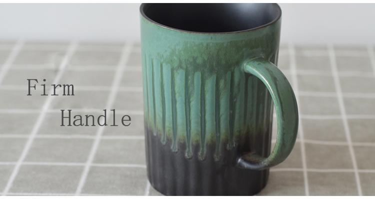 high temperature black glaze retro crinkle ceramic beer cup