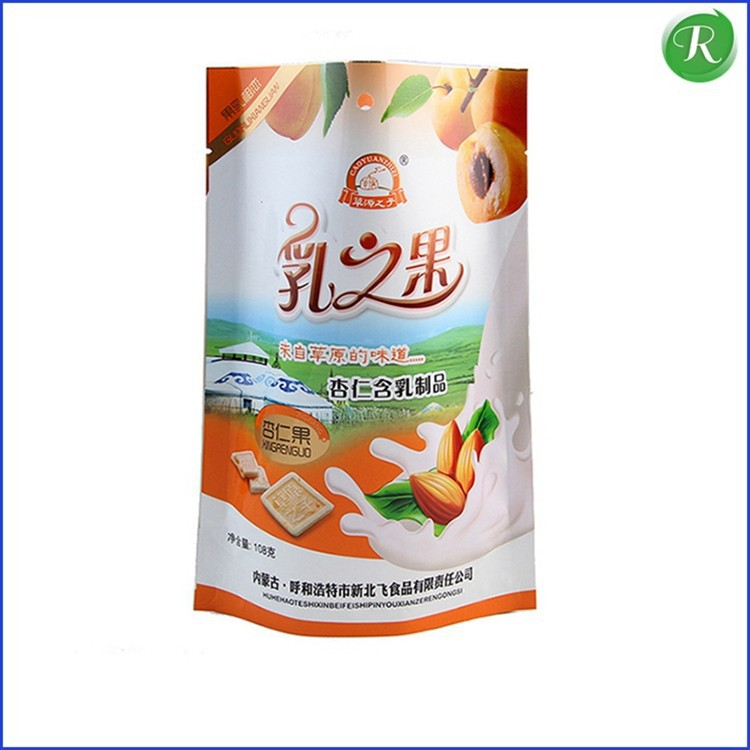 4 side heat seal bag with handle for food,aluminium foil 4 side seal with gusset product,high quality petfood bag