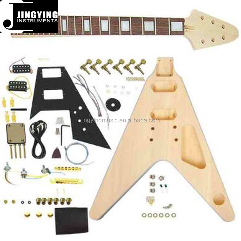 Wholesale Best Quality Low Price Personalized Flying V DIY electric guitar kit