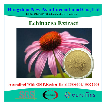 Pure Echinacea Extract Polyphenols 0.5%-7%,Chicoric Acid 0.5%-5% HPLC,100% ID,Low Contaminants of Aflatoxin,PAHs