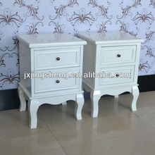 2PCS Solid Wood White2 Drawer Nightstand