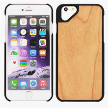Real wood bamboo mobile cover carbon fiber for iphone 6 case