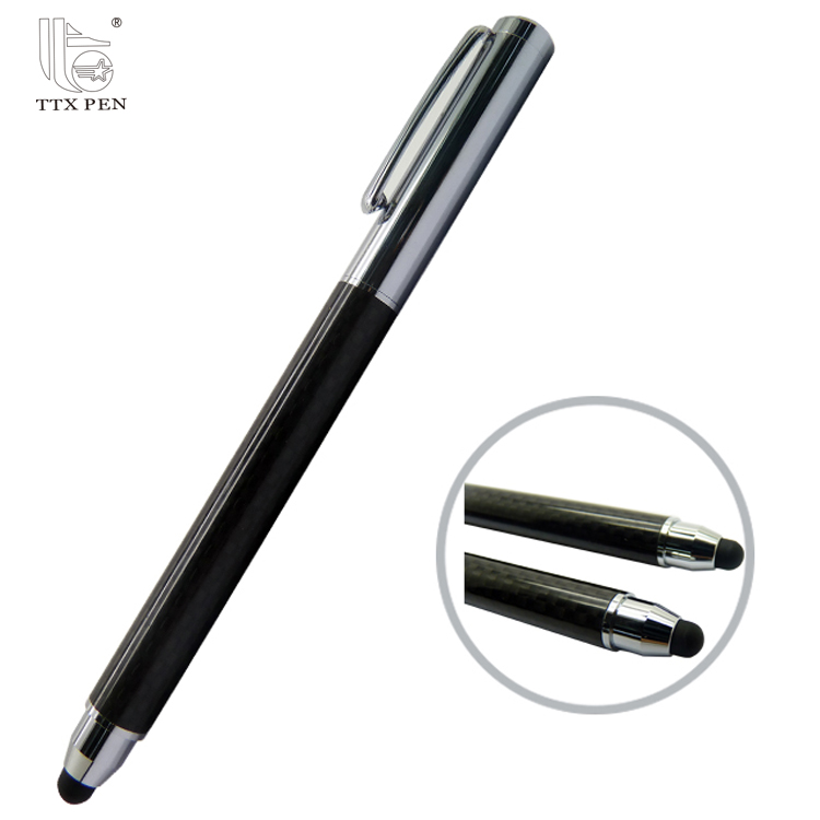 Private Logo Multi-functional Screen Touch Stylus Metal Pen with Ballpoint