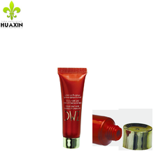 new products red plastic cosmetic cream tube for tester with screw cap